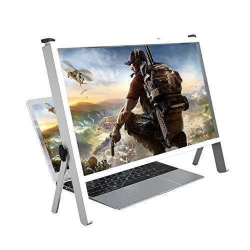 Lupa de pantalla Lupa de pantalla del ordenador portátil, 21IN MULTI-SCENSE Use Pantalla Amplificador de pantalla Película Video Ampliación, Pantalla HD de madera 3D Premium Pantalla de HD Cuaderno Pl
