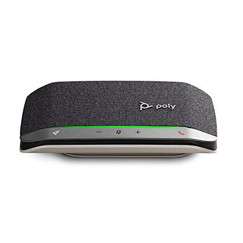 Poly - Sync 20 USB-A Personal Smart Speakerphone (Plantronics) - Connect to Cell Phone via Bluetooth and PC/Mac via USB-A Cable - Works with Teams, Zoom & More