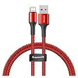 GBHD Cable de extensión USB Cable USB para iPhone 11 Pro XR X 2.4A Cable de Carga USB para iPhone 12 Mini Pro MAX 8 7plus Cable iPad Cables de teléfono Celular (Color : Red, Length : 2m)