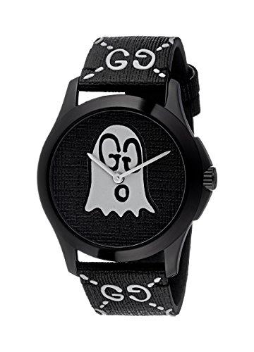 Gucci Unisex Erwachsene Datum klassisch Quarz Uhr mit Gummi Armband YA1264018
