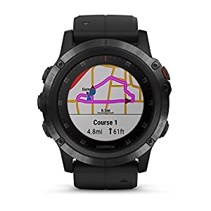 Garmin Fenix 5X Plus+ Sapphire Bundle with Screen Protectors, PlayBetter Portable Charger & Protective Case   Multisport GPS Watch, TOPO Maps, ClimbPro, Garmin Pay, Music + Spotify (Black/Black Band)