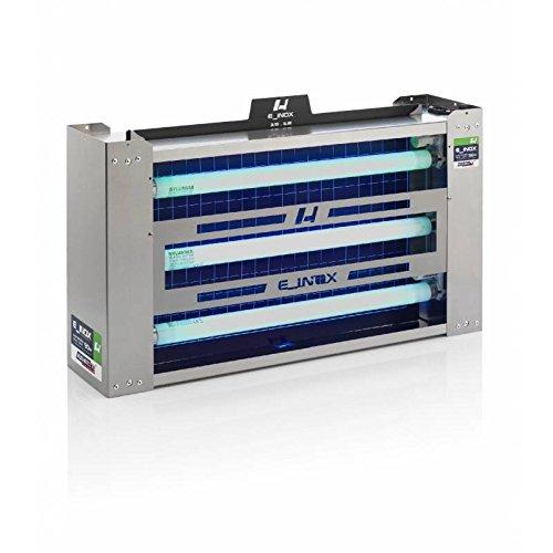 LT industrial Exterminador Insectos 200 m2 E_INOX Dual Light 90 W Tubos Inastillablesy Laminas Adhesivas de Captura