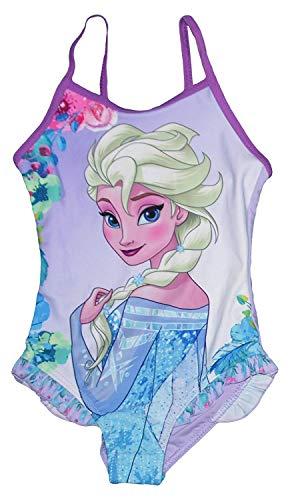 Eiskoningin Frozen volledig onbevroren badpak paars 4 5 6 8 jaar 104 110 116 128