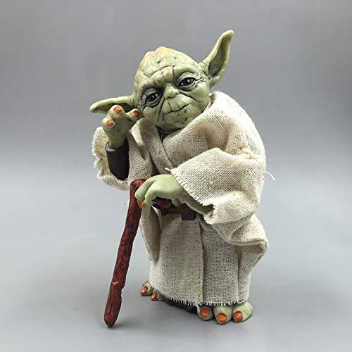 Kotee Carácter 13cm Animado Figura Star Wars Yoda Estatua Modelo Animado de la Historieta Caracteres Modelo Regalo Niño Estatua Estatuilla Modelo Colección Regalo de los Juguetes