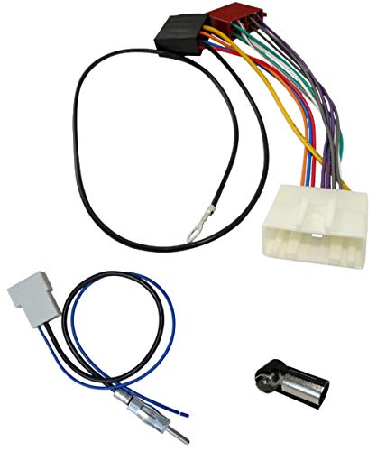 AERZETIX - Kit de Montaje de Radio de Coche estándar - Cable Enchufe de alimentación - Adaptadores de Antena - C2062A