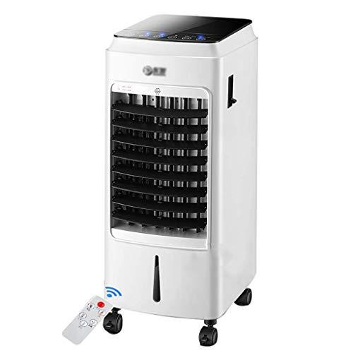 Ventilatori a piantana Condizionatore triplo portatile Air Caller, condizionatore d'aria mobile con display a LED, telecomando, timer 24 ore su 24, 3 velocità della ventola, bianco, serbatoio dell'acq