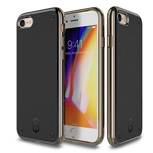 QNNEL Custodia per iPhone 7 Plus Colore Oro Protezione Dura Ammortizzatore Antiurto Protezione da Goccia Protective Case TPU Extreme Shockproof Corners Protection FLE-316414