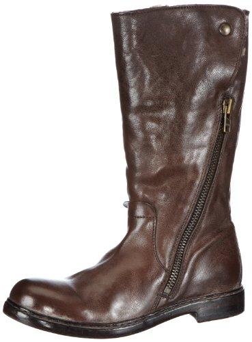 MOMA Damen Zip HIGH Boot Stiefel & Stiefeletten, Braun (Sigaro), 39.5 EU