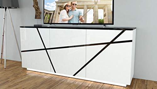 Furniture24_eu Kommode Sideboard Pure mit Beleuchtung