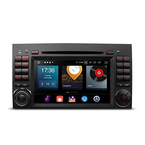 KAUTO 7'Android 10 Car Stereo Navegación GPS Octa Core 4GRAM 64G ROM Doble DIN Car Radio Reproductor de DVD Soporte CarAutoPlay Bluetooth 5.0 WiFi MirrorLink Dab + para Mercedes Benz W169 W245 W639