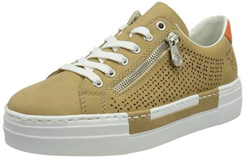 Rieker Damen N4948 Sneaker, Beige,38 EU