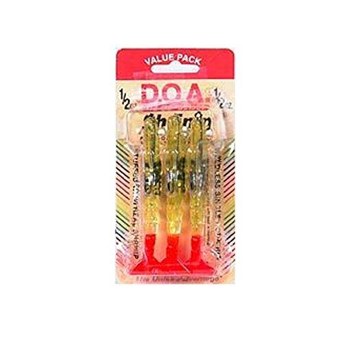 DOA FSH4-3P/315 Shrimp, 1/2-Ounce, Clear/Fire/Tail, 3-Pack