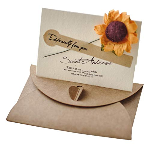 Lumierechat メッセージ カード メッセージカード ミニ プチ 一言メッセージ お礼 フラワー 席札 結婚式 テーブル 多目的 封筒 付き a-9136(10枚/イエロー)