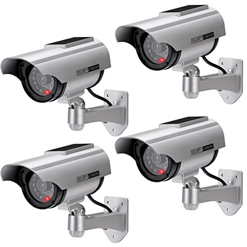 AlfaView Solar Powered Bullet Dummy Fake Surveillance Camera Security CCTV Dome...