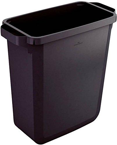 Durable Papierkörbe,Papierwannen und Zubehöre Abfallsammler DURABIN 60 - Recycled, Polypropylen, schwarz, 60 liters