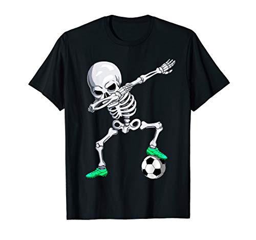 Halloween Skeletten Dab Tanzen Kinder Männer Dabbing Fußball T-Shirt