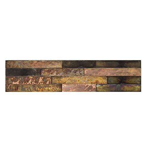 "Aspect Peel & Stick Distressed Metal Panel (23.6"" x 5.9"" Panel, Bronze Relic)"