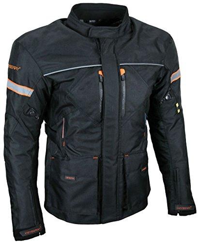 HEYBERRY Textil Touren Motorrad Jacke Motorradjacke schwarz orange Gr. 3XL