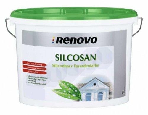 Renovo Silcosan 2,5 L., Siliconharz Fassadenfarbe, Weiß matt
