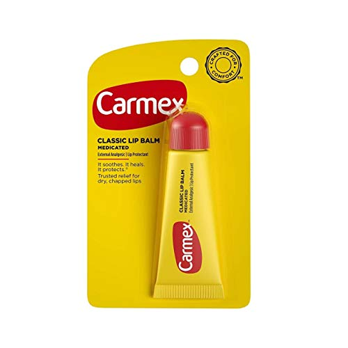 Carmex - Lip Moisturizing Tube, Original Balm - 0.35 Oz (3 each) by Carma Laboratories, Inc. (English Manual)