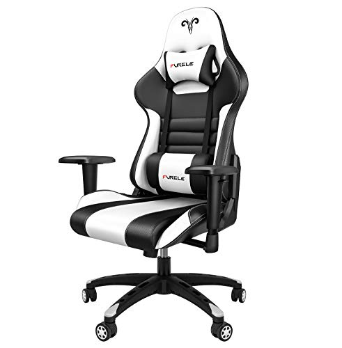 Furgle Gaming Chair Racing Style High-Back Office Chair w/3D Adjustable Armrests PU Leather...