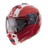 Casco para moto Caberg Duke Legend Ducati, modular, desmontable, colores rojo y blanco XS rojo-blanco