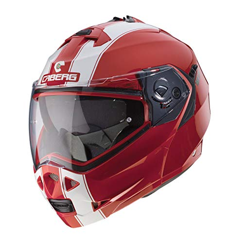 Caberg Duke Legend Flip Front Motorcycle Helmet M Red White