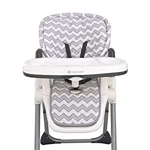Sumersault – Soft Gray and White Chevron High Chair Pad | Easy to Install Replacement Cushion | Fits Most 3-5 Point Harness High Chairs