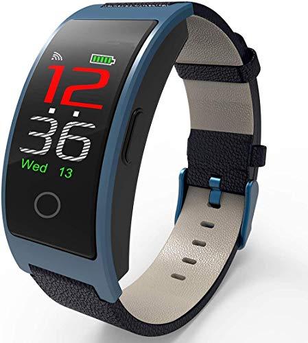 Clásico con temperatura corporal, presión arterial, oxígeno, frecuencia cardíaca, monitor de sueño, IP68, resistente al agua, reloj inteligente
