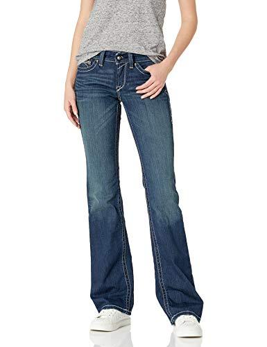 ARIAT womens R.e.a.l. Mid Rise Bootcut Jean, Ocean, 30 L US