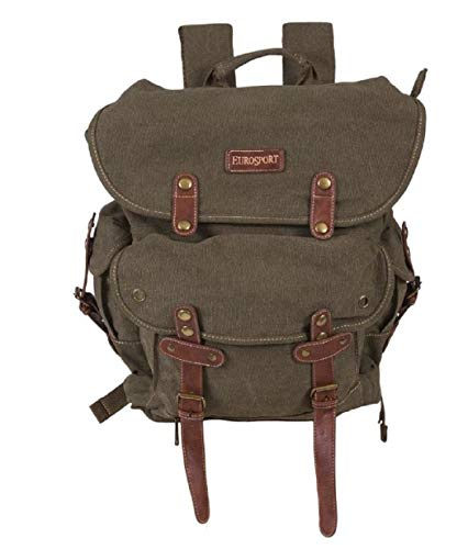 EuroSport WWII Canvas Travel Backpack Bag