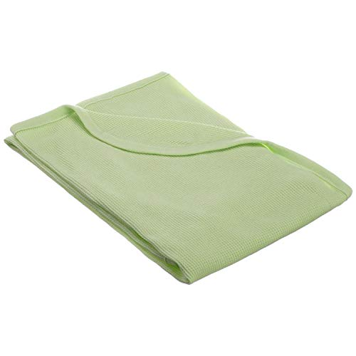 American Baby Company 30X 40-Soft100% Natural Cotton Thermal/WaffleSwaddleBlanket, Celery, Soft Breathable, for Boys and Girls