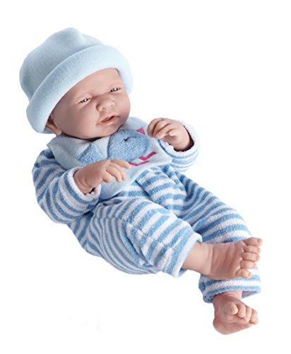 Berenguer 18106–Baby Schlafanzug gestreift, 38cm