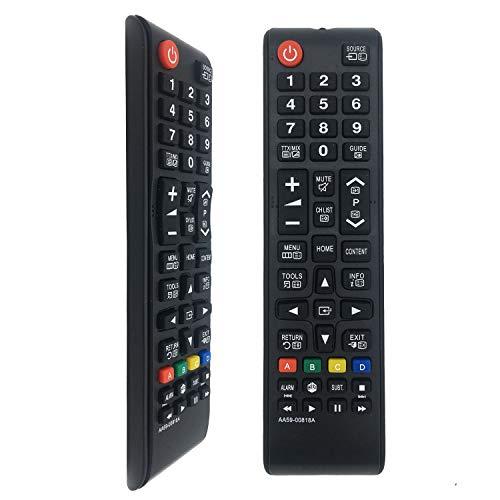 FOXRMT Nuovo telecomando di ricambio per TV Samsung Telecomando AA59-00818A Adatto per vari LED TV Samsung - Nessuna configurazione necessaria TV Telecomando universale HG24AD470FW, HG26AA470PW