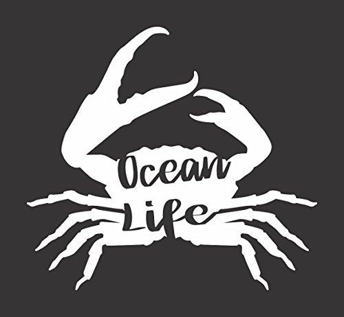 Barking Sand Designs Ocean Life Crab - Die Cut Vinyl Window Decal/Sticker for Car/Truck
