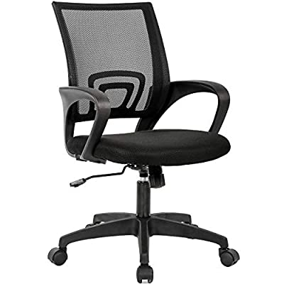 Home Office Chair Ergonomic Desk Chair Mesh Computer Chair with Lumbar Support Armrest Executive Rolling Swivel Adjustable Mid Back Task Chair for Women Adults