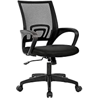 BestOffice Ergonomic Executive Rolling Swivel Adjustable Chair With Armrest (Black)
