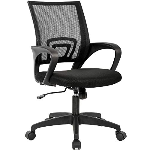 Home Office Chair Ergonomic Desk Chair Mesh Computer Chair with Lumbar Support Armrest Executive Rolling Swivel Adjustable Mid Back Task...