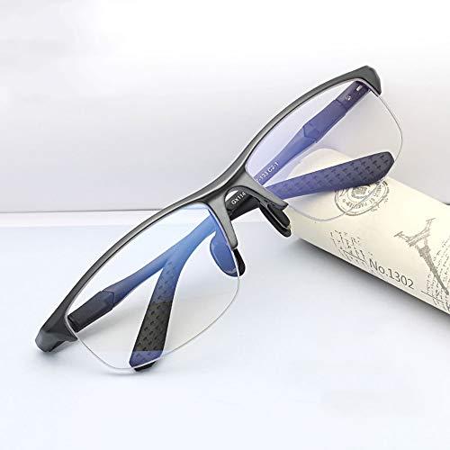 Computer Glasses WYZQQ computerbril, anti-blu-ray-speelbril, voor mannen, zonder frame, met veerscharnier, sportbril, fietsbril