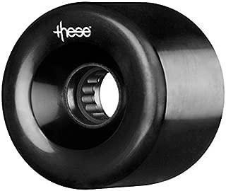 Longboard Wheels ¨These¨ ATF 327 Black. Ruedas de Longboard (Pack 4) 66mm - 82a
