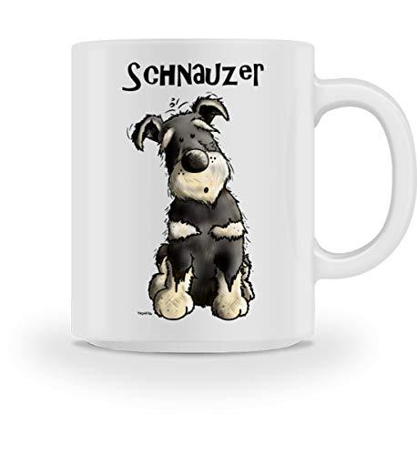 Kleiner Schnauzer Hund I Lustiges Zwergschnauzer Mittelschnauzer Riesenschnauzer Cartoon - Tasse -M-White