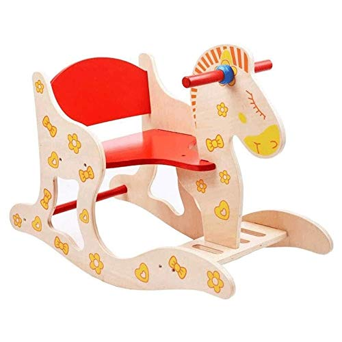 XWX Wooden Rocking Horse Baby Educational Toy Rocking Horse 1-5 Year Old Toy Gift