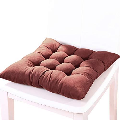 Souarts zitkussen stoelkussen kussensloop dikker zitkussen voor eetkamer terras Home Office 37x37 cm