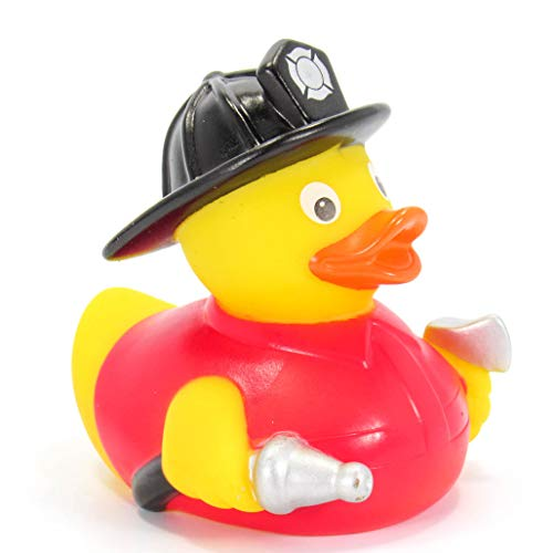 Ad Line Fireman Rubber Duck First Responder Hero Bath Toy | Squeaker | Child Safe | Collectable