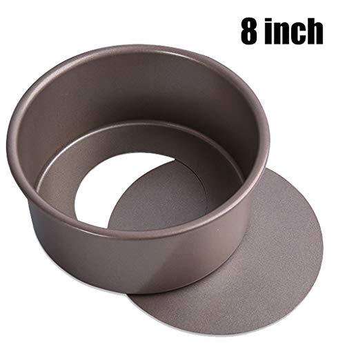 HYXXQQ 0,8 Mm Dick Runde Carbon Steel Kuchenform/Kuchenform/Form,Antihaft-Oberfläche Glatt,for Hochzeit,Geburtstag,Weihnachten,Party