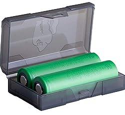 2 Konion Murata VTC6 18650 3120 mAh Akkus INR für eZigarette Batterien Akku Dampfen Akkus für dampfer + Akkubox
