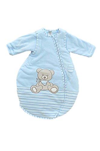Jacky jongens baby all-season slaapzak lange mouwen, 100% katoen, lichtblauw/gestreept, maat 86/92, 350013