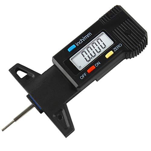 Larcele Jauges de Profondeur de Pneus de Numerical 0-25.4mm pour Les Voitures, Plastique,LTC-01 (Noir)