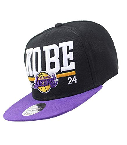 Kobe Commemorative Edition Embroidered Flat Hat Lakers 24th Basketball Master Hat (Purple)