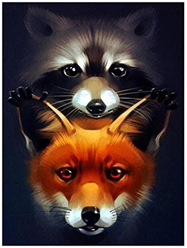 Juego de pintura de diamantes para niños 5D DIY Trabajo hecho a mano, costura Animal fox cute beautiful foxHomeDécorProducts